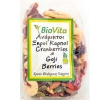Ανάμικτοι Ξηροί Καρποί Cranberries & Goji 150 γρ. ΒΙΟ